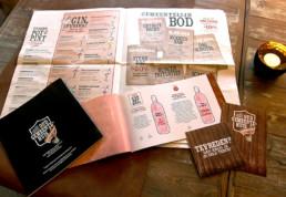 menukaart krant krantje wijnkaart waardebon huisstijl